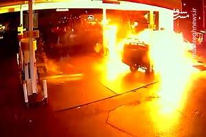 لحظه انفجار پمپ بنزین در روسیه