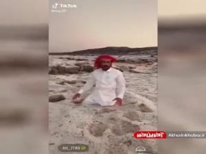 حجم سنگین بارش تگرگ در بخش هایی از عربستان