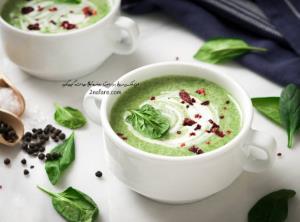 افطاری بپزیم؛ سوپ سبز خامه ای با اسفناج