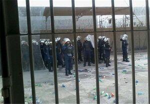 حمله وحشیانه نیروهای آل خلیفه به زندان«جو» بحرین