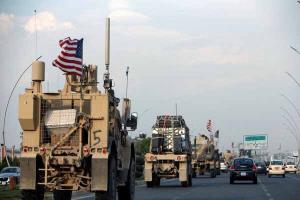 کاروان لجستیک متعلق به نظامیان آمریکا در عراق هدف قرار گرفت