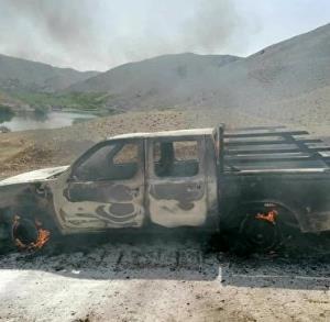 آتش زدن ماشین پیمانکار پروژه انتقال آب بروجن