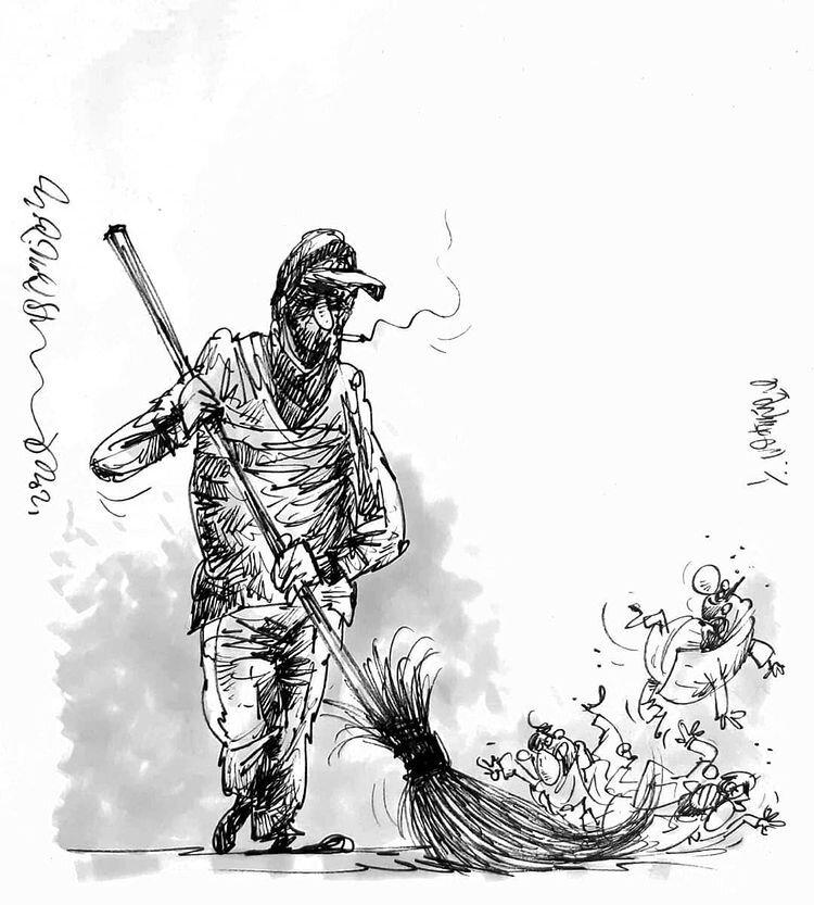 کاریکاتور/ این مدیران دغلباز را باید جارو کرد!