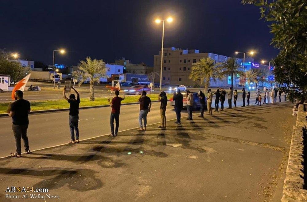 تظاهرات شیعیان بحرین برای آزادی زندانیان