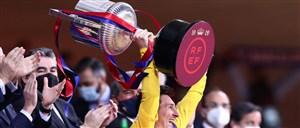 واکنش مسی به قهرمانی بارسلونا