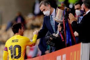 خوشوبش مسی با پادشاه اسپانیا