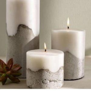 آموزش شمع های بتنی بدون قالب