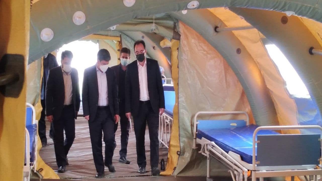 بیمارستان صحرایی در اردبیل برپا شد