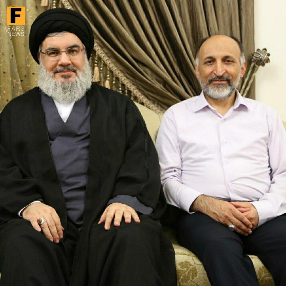 تصویر کمتر دیده شده از مرحوم سردار حجازی در کنار سیدحسن نصرالله