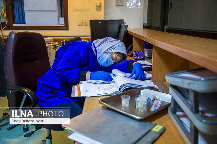 عکس/ مدافعان سلامت در رویای وضعیت سفید