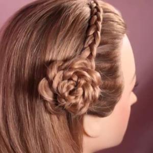 ترفند درست کردن گل رز روی موها