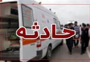 تصادف اتوبوس مسافربری با نیسان در آزادراه زنجان-قزوین