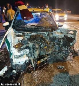 تصادف خودرو سمند با ماشین پلیس ۴ مصدوم برجای گذاشت