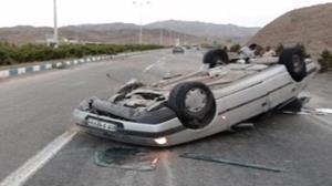 ۳ کشته و ۴ زخمی بر اثر واژگونی خودرو سواری در محور جهرم به شیراز