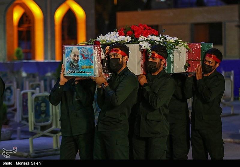 عکس/ ورود پیکر مطهر سردار حجازی به اصفهان