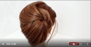 شنیون موهای کوتاه به آسان ترین روش ممکن