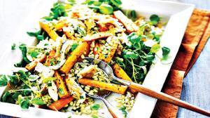 طرز تهیه خوراک هویج و گندم مخصوص ماه مبارک رمضان