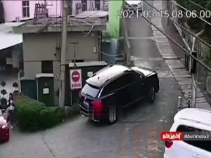 سقوط عجیب خودرو!