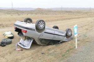 خواب ابدی ۲ جوان در واژگونی خودرو