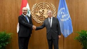 رایزنی رئیس جمهور عراق با دبیرکل سازمان ملل درباره انتخابات پیش رو