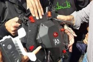 سرنگونی پهپاد اسرائیل در غزه