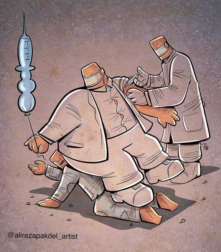 کاریکاتور/ واکسن کرونا برای همه هست!