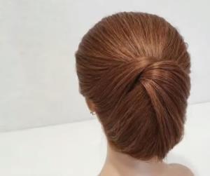 ایده ساده و سریع شنیون موهای کوتاه