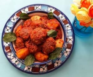کوفته گوشت و بلغور یک غذای نونی ساده برای افطار
