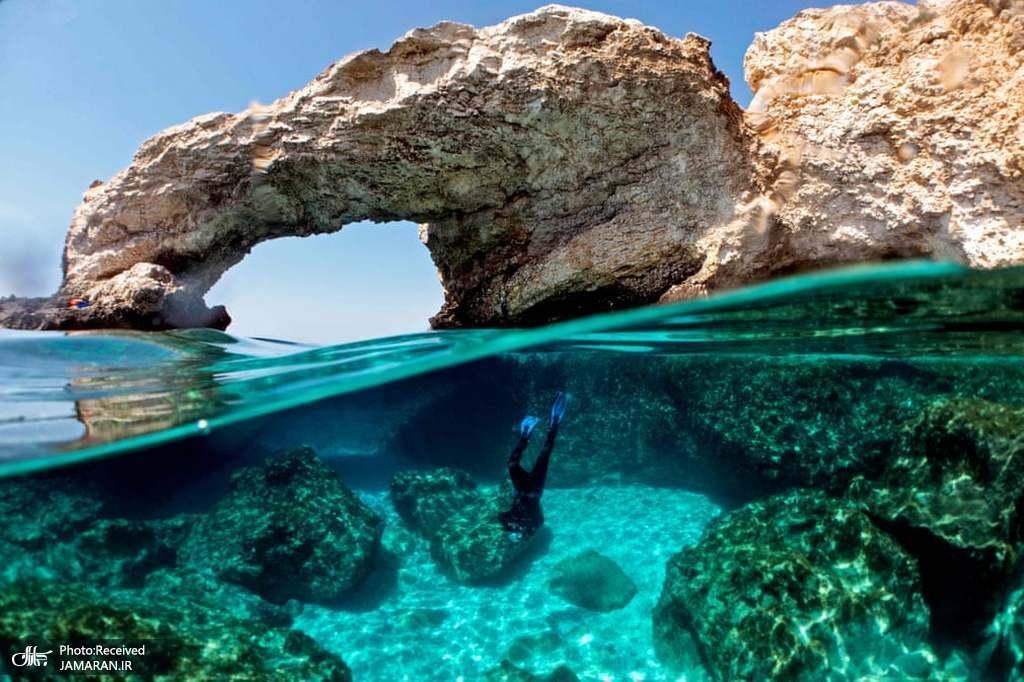 غواصی برای عکاسی از مرجان ها