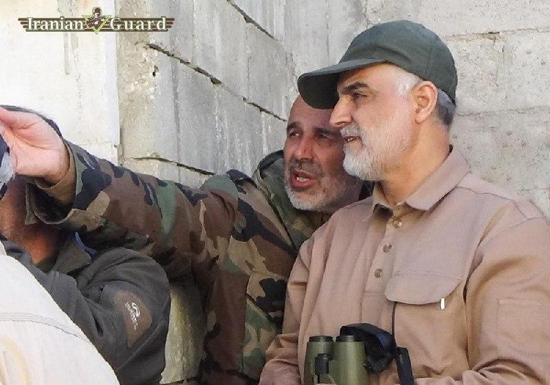 عکس/ جانشین جدید سردار قاآنی در کنار حاج قاسم