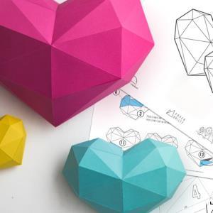 قلب اوریگامی سه بعدی بسازید