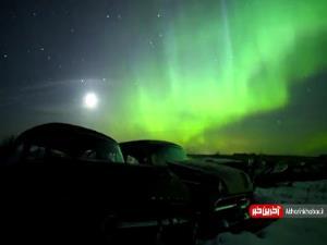 تصاویر خیره کننده از شفق قطبی در آسمان
