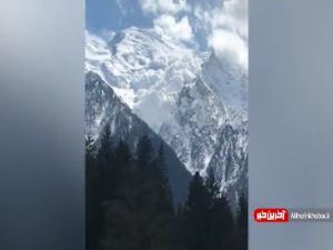تصاویری از سقوط بهمن در کوهستان