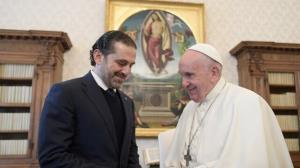 حریری: پاپ پس از تشکیل دولت به لبنان سفر میکند