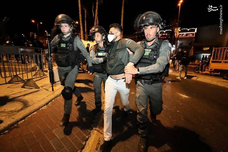 درگیری مردم فلسطین با نظامیان رژیم صهیونیستی