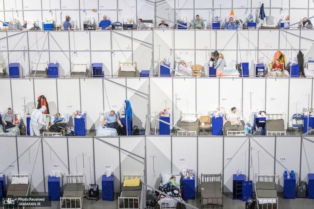 بیمارستان صحرایی بیماران کووید 19 در صربستان
