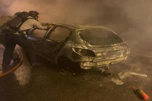 انفجار خودروی ۲۰۷ در تونل آزادراه تهران-پردیس