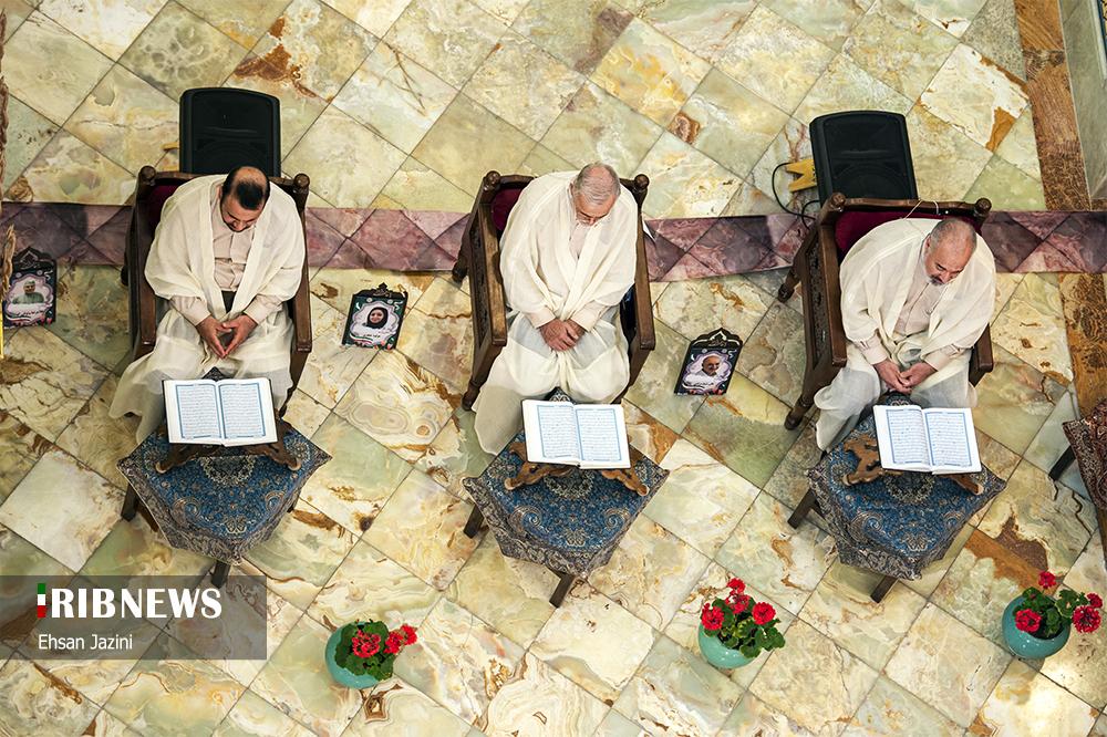 جزء خوانی قرآن کریم در امام زاده نرمی اصفهان
