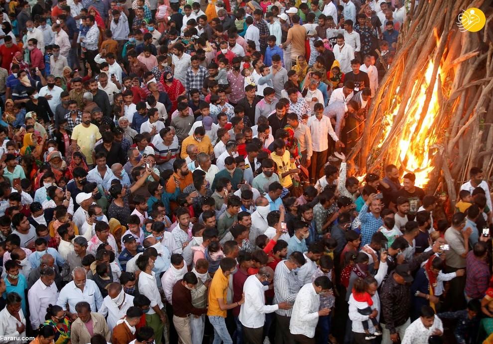 عکس/ هند در جهنم کرونا