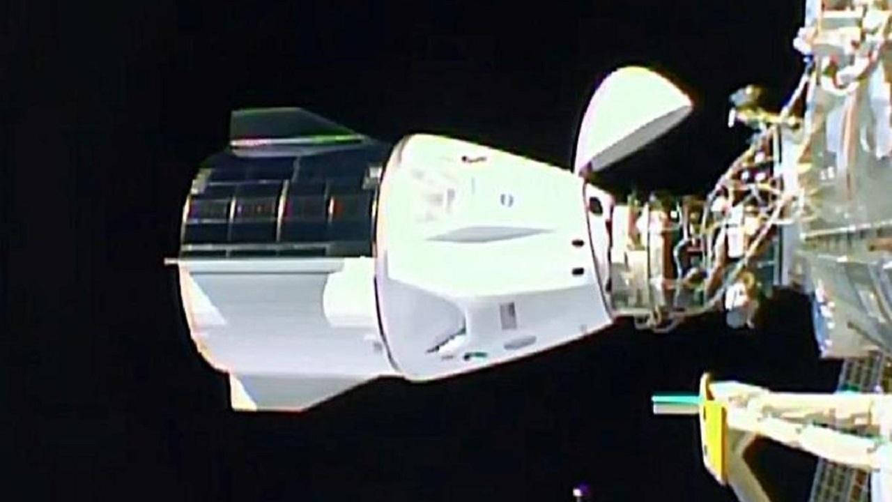 کپسول اسپیس ایکس با موفقیت به ایستگاه فضایی بینالمللی متصل شد