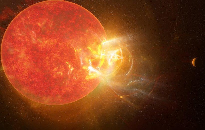 ستارهشناسان شرارهای عظیم را در نزدیکترین ستاره به خورشید رصد کردند