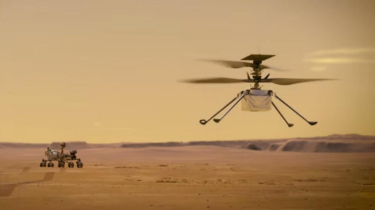 تصویری که هلیکوپتر «نبوغ» در دومین پرواز خود بر فراز مریخ ثبت کرد