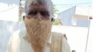 ماسک عجیب مرد هندی که سوژه رسانه ها شد!