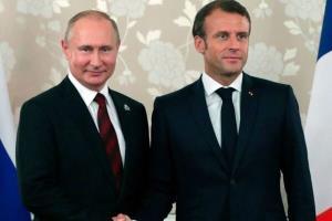 گفتگوی تلفنی «پوتین» و «ماکرون» پیرامون وضعیت در شرق اوکراین