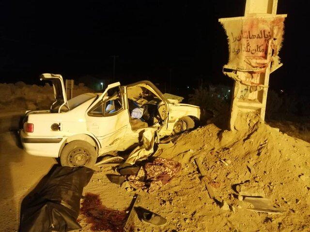 برخورد سواری پژو با تیر برق در سانیج یک قربانی گرفت