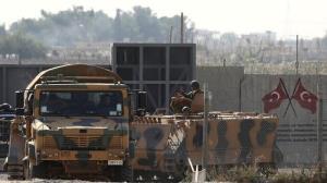 حمله یک هواپیمای ناشناس به پایگاه نیروهای ترکیهای در سوریه