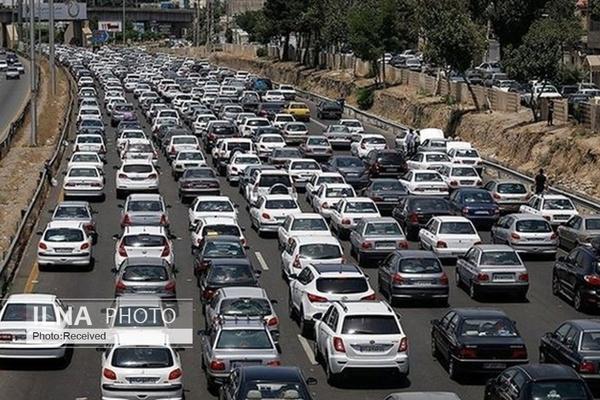 ترافیک سنگین در آزادراه قزوین_کرج-تهران
