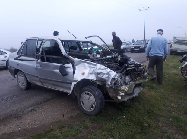 ۲ کشته حاصل تصادف پراید با کامیون در چهارمحالوبختیاری