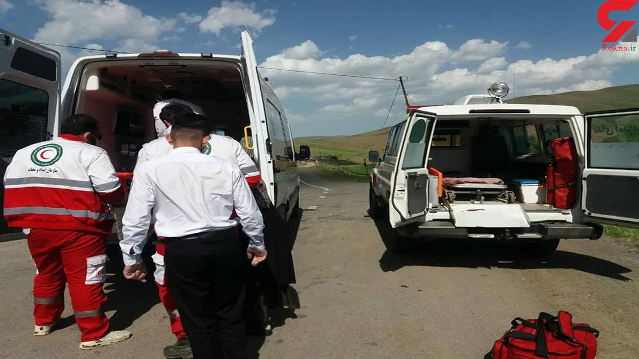 واژگونی پژو با یک مصدوم در مهاباد