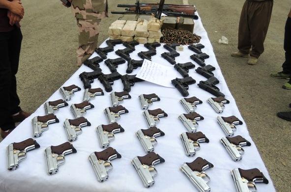 انهدام باند قاچاق سلاح و مهمات در مرزهای استان کرمانشاه